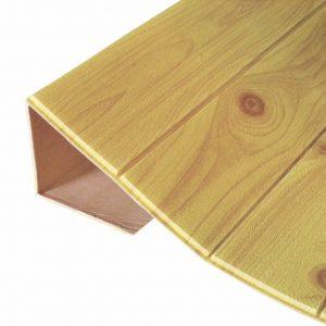 Xốp dán tường 3D giả gỗ màu vàng nghệ